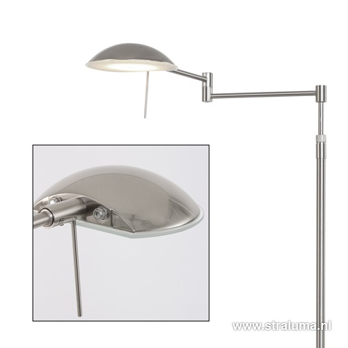 Moderne LED leeslamp Retina staal