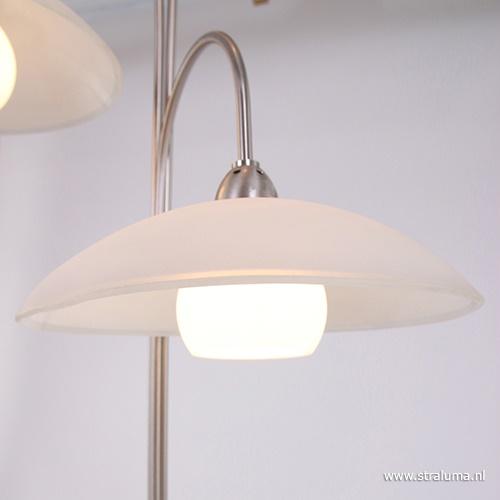 Moderne vloerlamp Aleppo nikkel LED