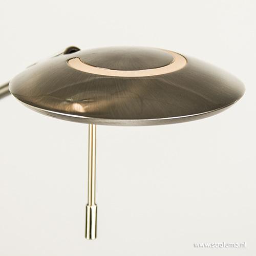 LED staande lamp-uplighter staal-dimbaar