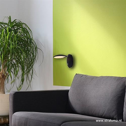 Moderne wandlamp Zenith LED zwart