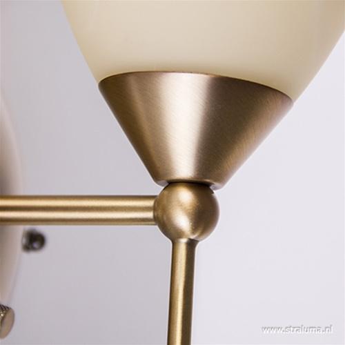 Klassieke wandlamp Burgundy brons