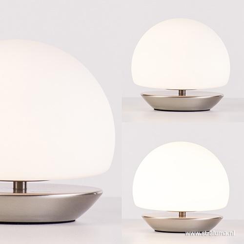 Tafellamp Ancilla bolglas 3-stappen dimbaar
