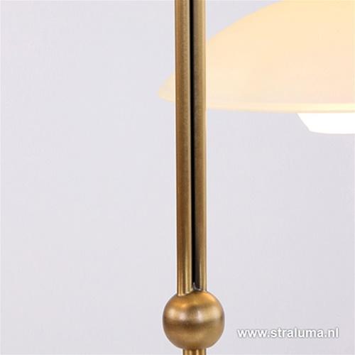 Klassieke bronzen LED tafellamp Monarch