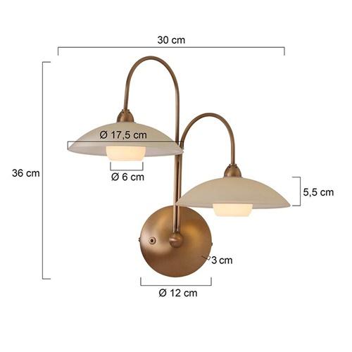 Klassieke wandlamp Monarch LED brons