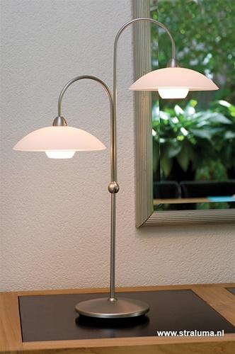 Sierlijke tafellamp Monarch LED staal