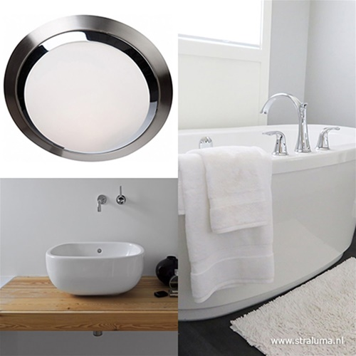 Moderne ronde plafonnière LED badkamer