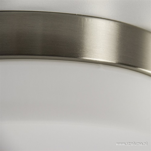 Plafonnière nikkel/opaal 18cm 3-st.dim.