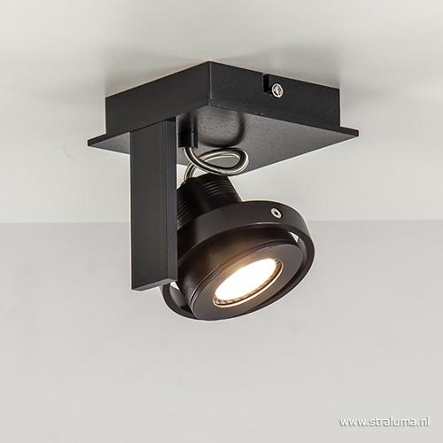 Plafondspot Quatro 1L zwart incl.gu10