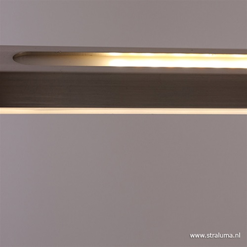Hanglamp balk zwart 150cm 2xdimmer cct