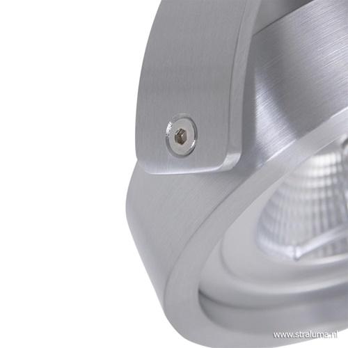 Moderne plafondspot geborsteld staal 2-lichts LED