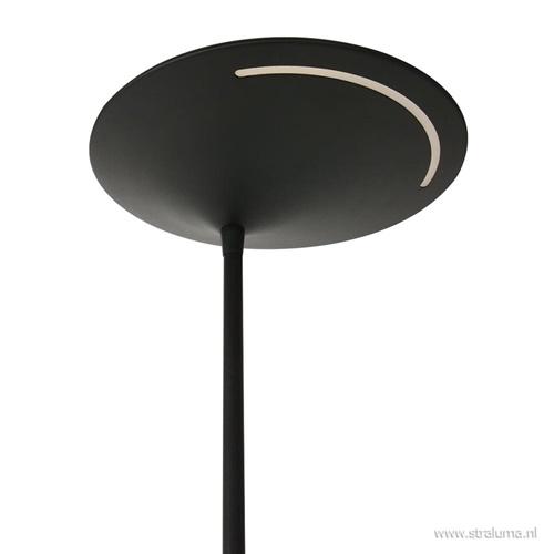 Uplighter zwart met leeslamp - 2 x pushdimmer