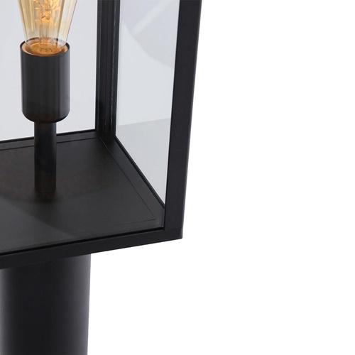 Moderne buitenlamp lantaarn zwart met glas IP44