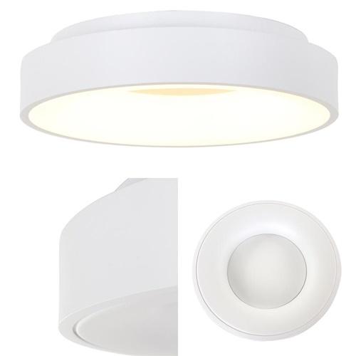 Ronde plafonnière wit 48 cm met LED