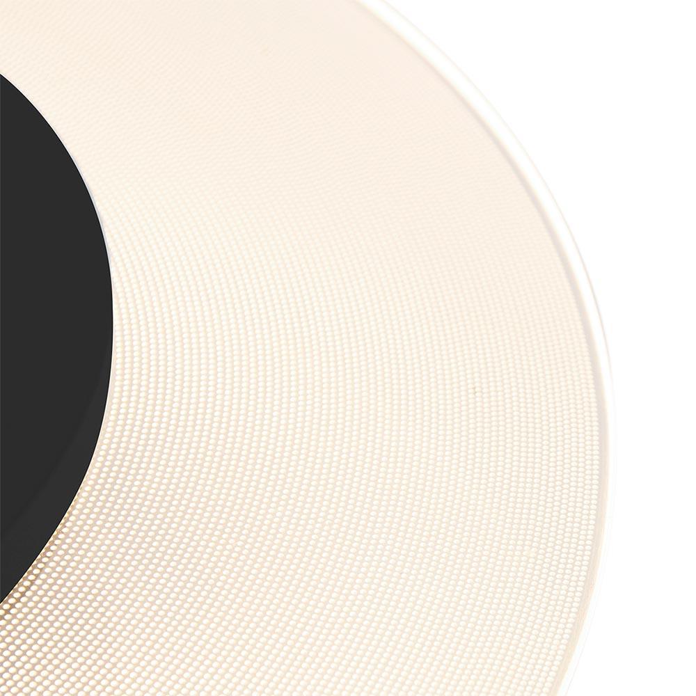 Plafondlamp Lido zwart 36cm indirect