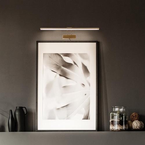 Klassieke schilderij wandlamp brons met LED