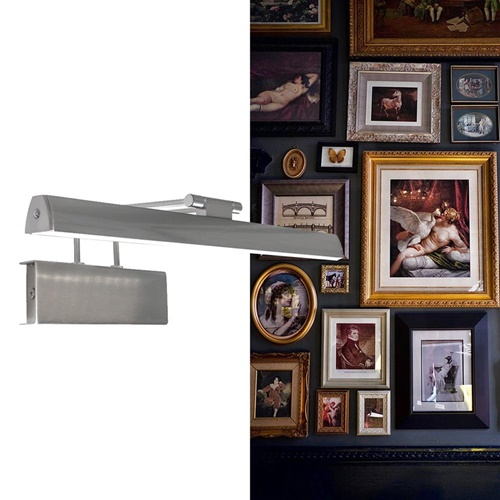 LED wandlamp schilderij geborsteld staal dimbaar