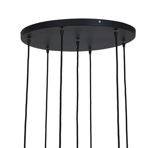 Videlamp 7L zwart met smoke glas mix
