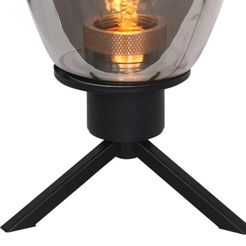 Tafellamp Reflexion ovaal zwart+smoke