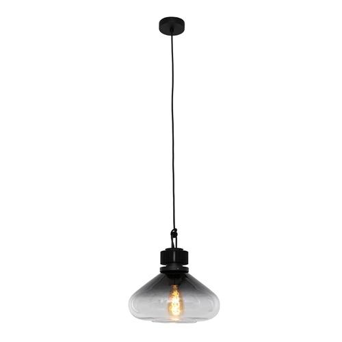 Strak klassieke hanglamp glas smoke/helder
