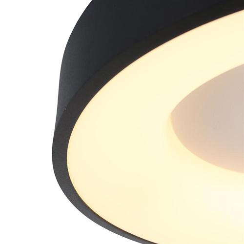 Plafondlamp Ringlede zwart