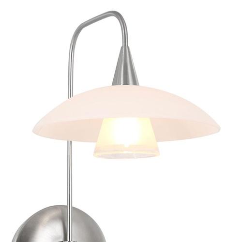 LED wandlamp staal met glas inclusief snoer