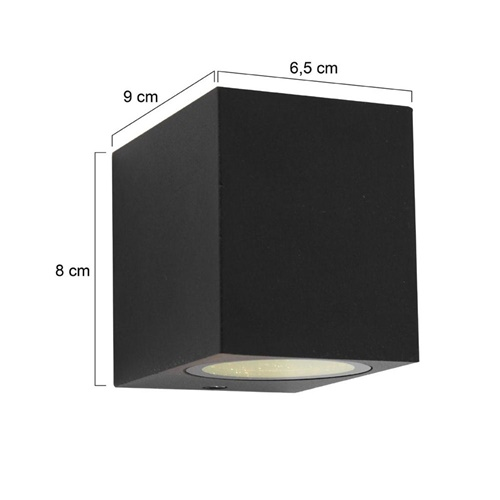 Buitenlamp Logan kubus zwart IP44