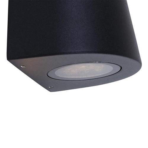 Buitenlamp up+down aluminium zwart