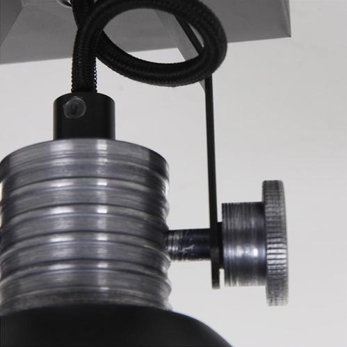 Industriële plafond/wandspot zwart inclusief LED