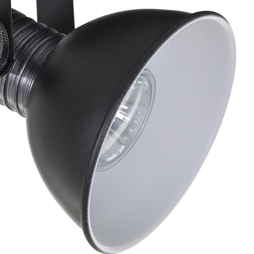 Stoere 3-lichts plafondspot GU10 inclusief LED