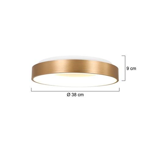 Ronde plafondlamp goud inclusief LED