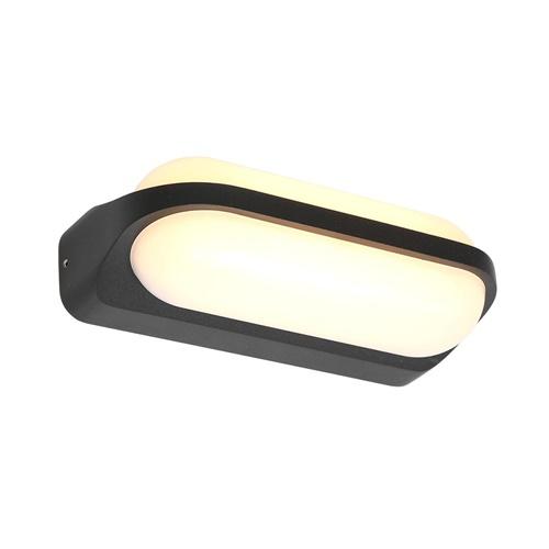 Aluminium buitenlamp zwart inclusief LED