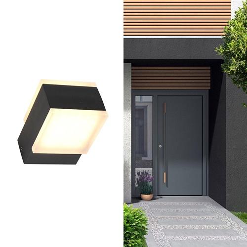 Rechthoekige LED buitenlamp up+down