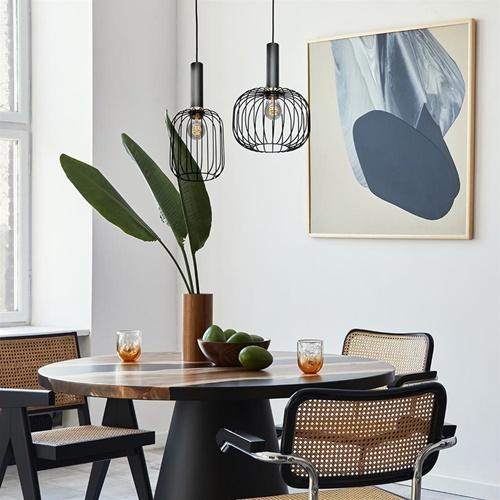 Hanglamp Aureole cilinder breed zwart