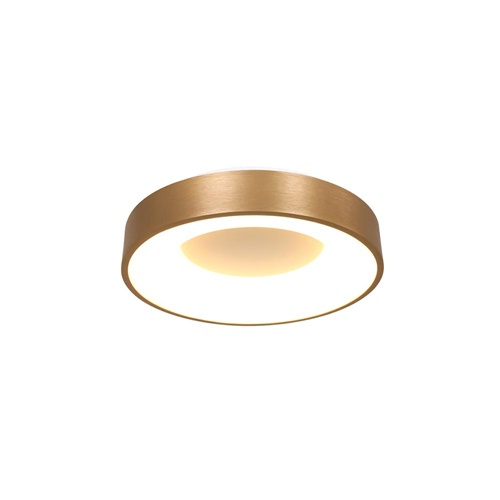 Kleine LED plafondlamp goud 30 cm