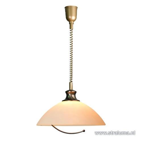 Klassieke hanglamp brons trekpendel straluma for Klassieke hanglamp