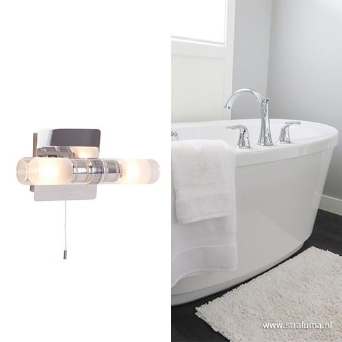Badkamer wandlamp Vikareus schakelaar   Straluma