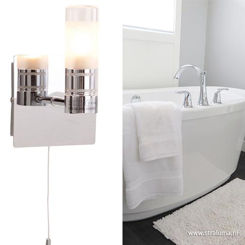 Badkamer wandlamp IP44 schakelaar | Straluma