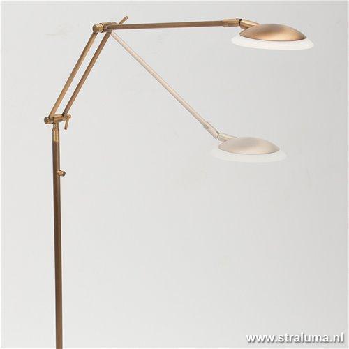 Klassieke leeslamp brons led dimbaar straluma - Klassieke vloerlamp ...