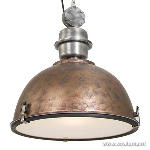industrià le hanglamp bruin brons tafel straluma