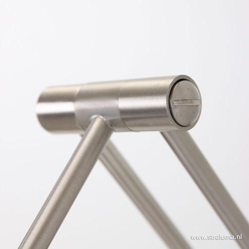 Wandlamp Tamara staal dimbaar slaapkamer | Straluma