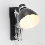 Trek wandlamp Spring zwart 6290