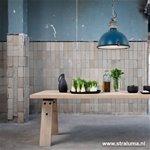 **Industriële hanglamp blauw keuken