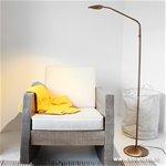 **Klassieke leeslamp LED brons dimbaar