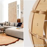 *Woody hanglamp blank hout rond 40 cm