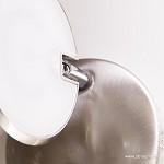 LED wandlamp staal met dimmer