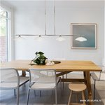 *Moderne LED Hanglamp Monarch Staal