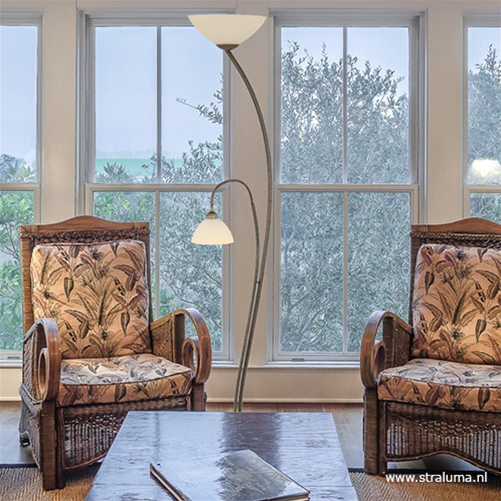 Vloerlamp Capri brons/Glas 6838BR