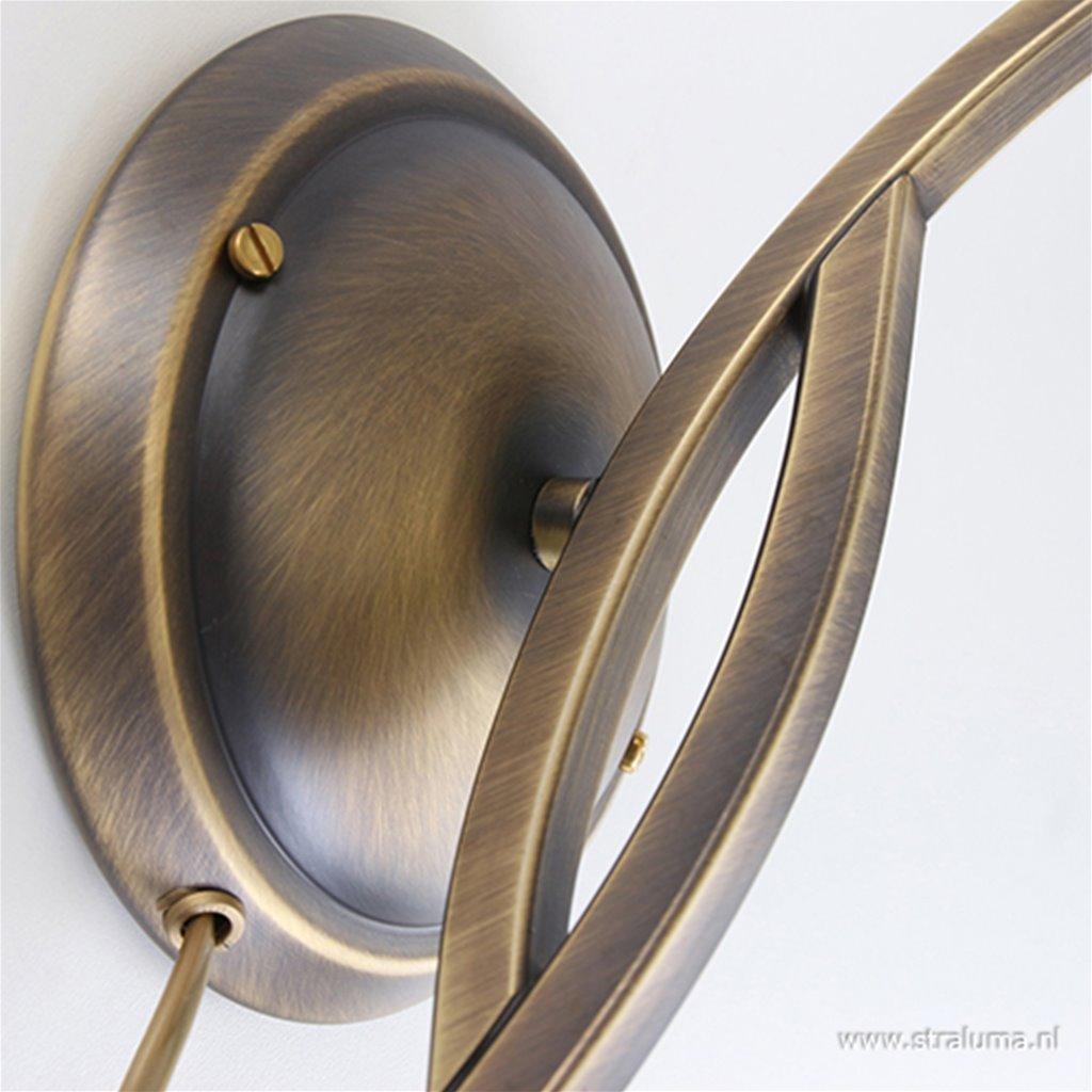 Wandlamp Capri brons/Glas 6840BR