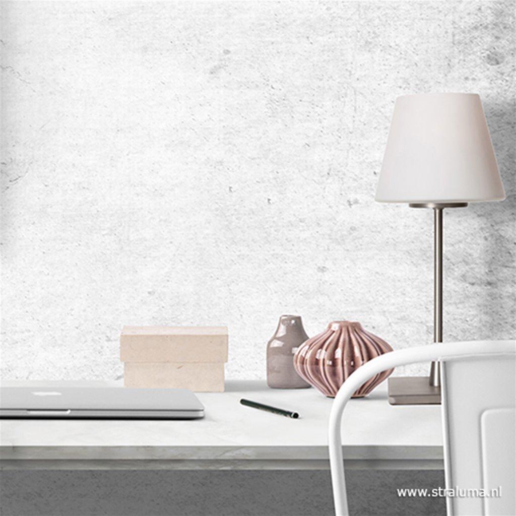 Tafellamp Ancilla nikkel/wit glas 6933ST