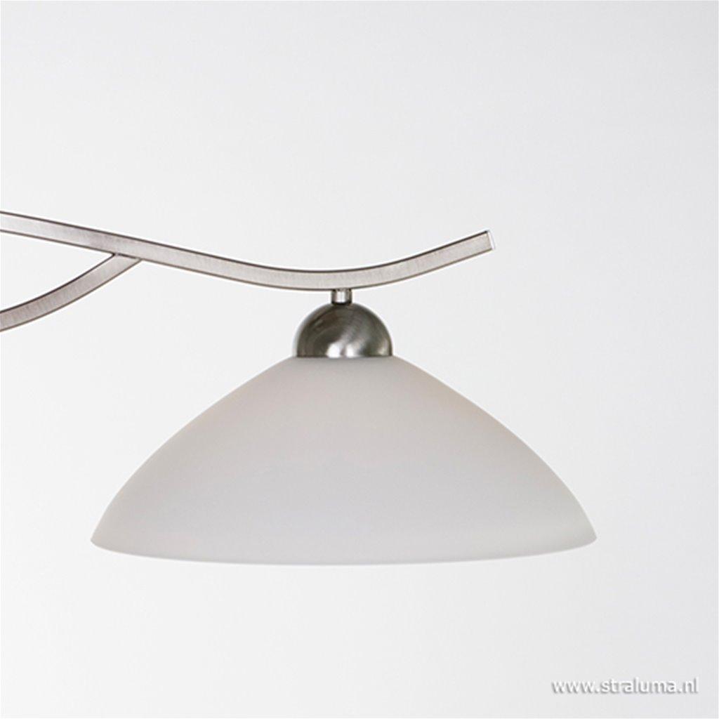**Hanglamp Capri staal/glas eettafel